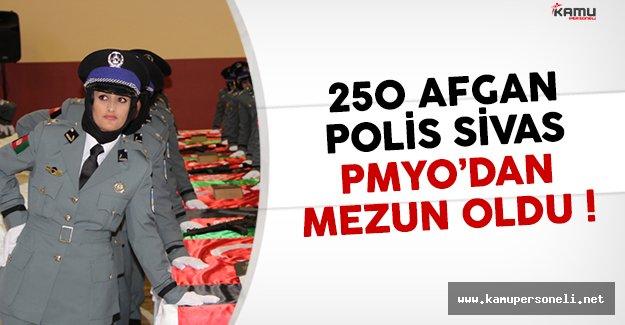 250 Afgan polis Sivas PMYO'dan mezun oldu