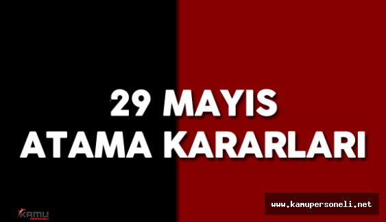 29 Mayıs 2016 Resmi Gazete 'de Yayımlanan Bakan Yardımcısı Atama Kararları