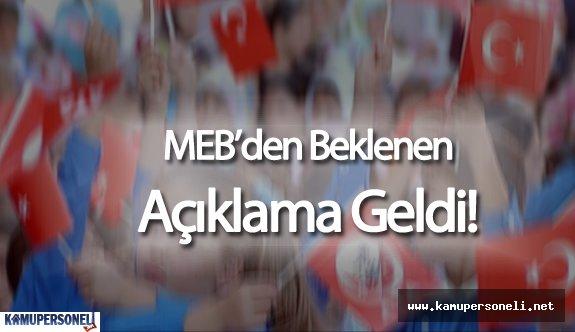 29 Nisan Okullar Tatil mi? TEOG Sonrası Okulların Durumu Hakkında MEB'den Açıklama Geldi