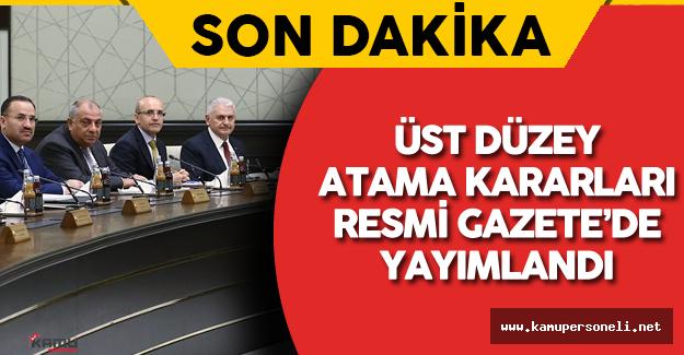 2 Ağustos 2016 Atama Kararları Resmi Gazete'de Yayımlandı