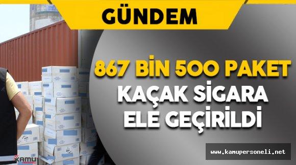 2 Gemide 867 Bin 500 Paket Kaçak Sigara Ele Geçirildi