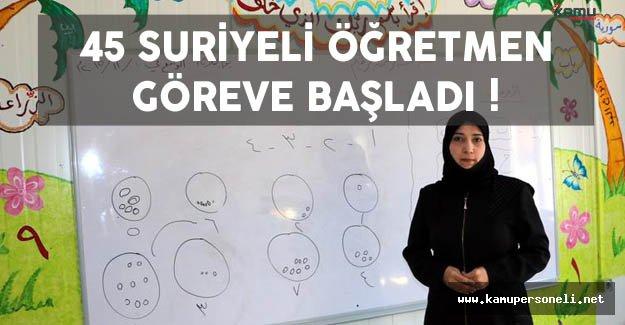 45 Suriyeli Öğretmen Görev Başı Yaptı