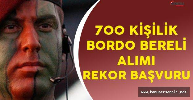 700 Kişilik Bordo Bereli Alımı için Yoğun Talep