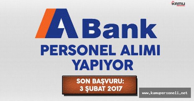 A Bank Personel Alımı Yapıyor