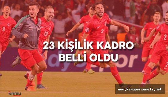 A Milli Takım Euro 2016 23 Kişilik Kadrosu Belli Oldu