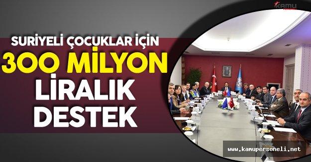 AB'den Türkiye'deki Suriyeli Çocukların Eğitimi için 300 Milyon Liralık Destek