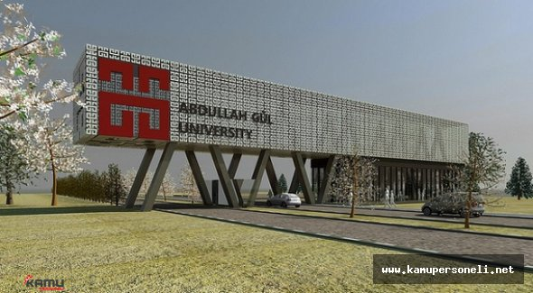Abdullah Gül Üniversitesi 1 Akademik Personel Alımı Yapacak
