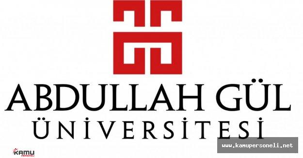 Abdullah Gül Üniversitesi Akademik Personel Alımı