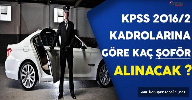 Açıklanan KPSS 2016/2 Kadrolarına Göre Kaç Şoför Alımı Yapılacak ?