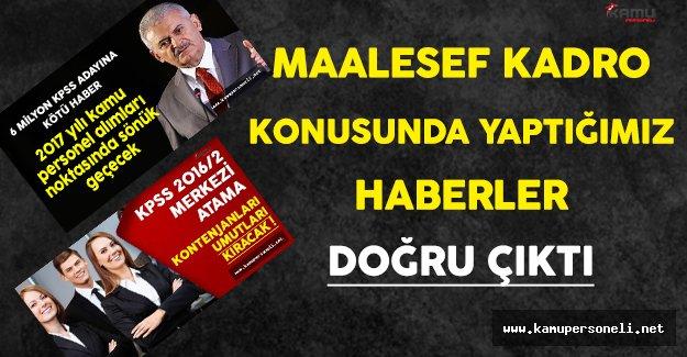 Kamupersoneli.net Olarak Demiştik:Açıklanan KPSS Kadroları Maalesef Umutları Kırdı !