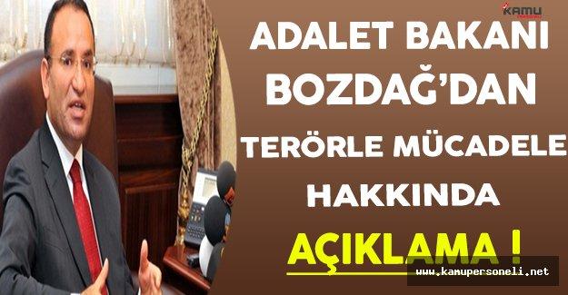 Adalet Bakanı Bozdağ'dan Terörle Mücadele Açıklaması