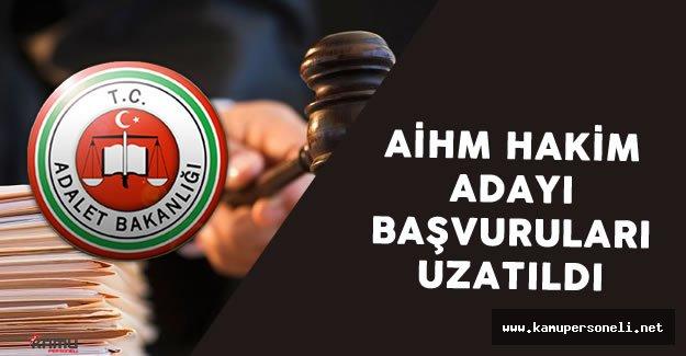 Adalet Bakanlığı AİHM'E Hakim Adayı Belirlenmesi Başvuruları Uzatıldı
