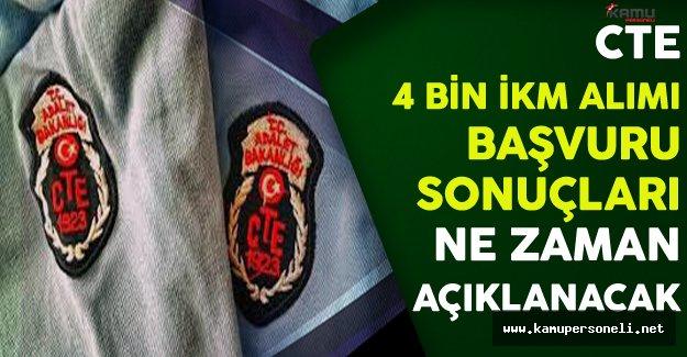 Adalet Bakanlığı CTE 4 Bin İnfaz Koruma Memuru (İKM) Başvuru Sonuçları Ne Zaman Açıklanacak?