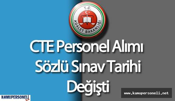 Adalet Bakanlığı CTE Personel Alımı Sözlü Sınav Tarihi Değişti