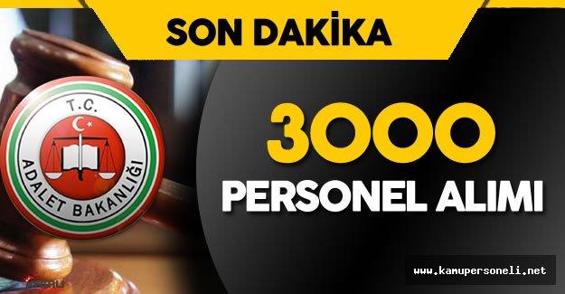 Adalet Bakanlığı Personel Alımı için Sayıyı 3000 Olarak Değiştirdi