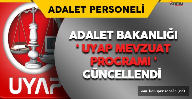 Adalet Bakanlığı UYAP Mevzuat Programı Güncellendi
