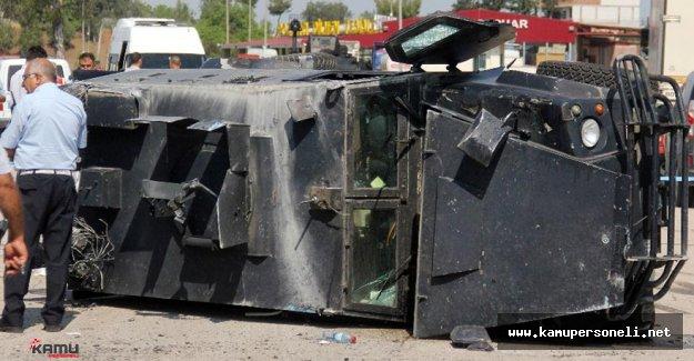 Adana'da Zırhlı Aracın Devrilmesi Sonucu Bir Polis Şehit Oldu