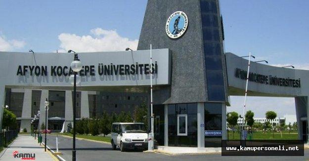 Afyon Kocatepe Üniversitesi Sözleşmeli Personel Alımı Başvuruları Sona Eriyor