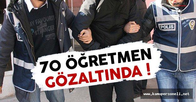 Afyonkarahisar'da 70 Öğretmen Gözaltında !