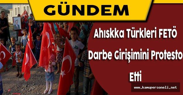 Ahıska Türkleri Darbe Girişimini Protesto Etti