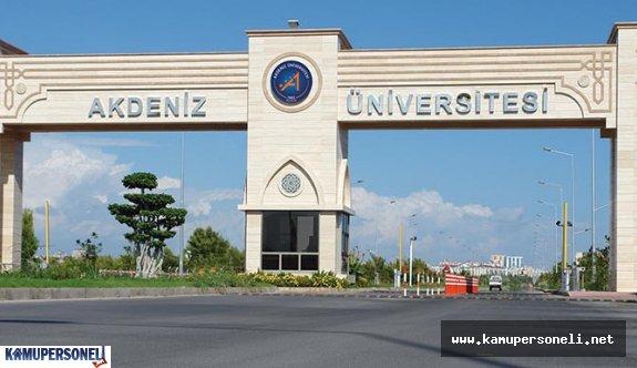 Akdeniz Üniversitesi Akademik Personel Alacak