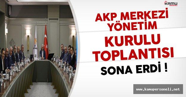 AKP MYK Toplantısı Sona Erdi !