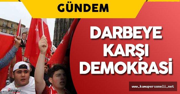 Almanya'da Halk 'Darbeye Karşı Demokrasi Mitingi' için Toplanacak