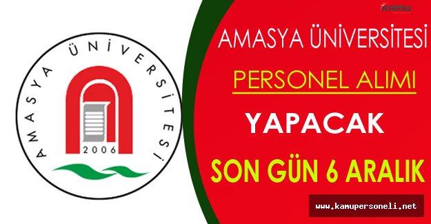 Amasya Üniversitesi Personel Alacak