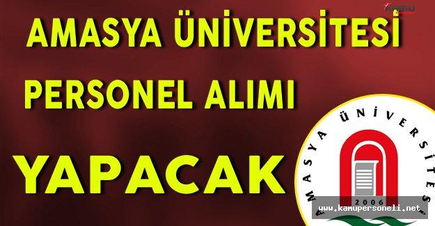Amasya Üniversitesi Personel Alım İlanı