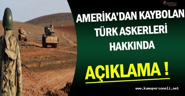 Amerika Tarafından Kaybolan Türk Askerleri Hakkında Açıklama ( Türkiye'yi Destekliyoruz )