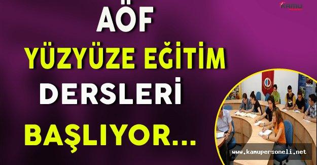 Anadolu Üniversitesi AÖF Yüzyüze Öğretim Hizmetleri Başlıyor