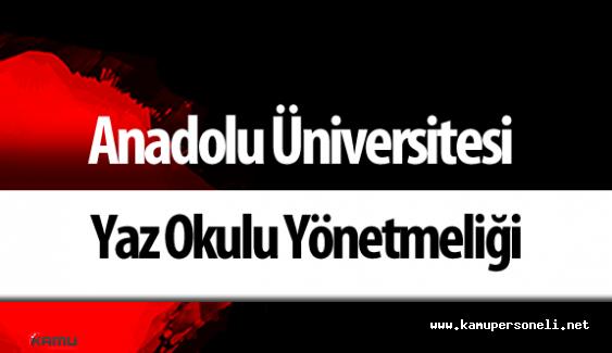 Anadolu Üniversitesi Yaz Okulu Yönetmeliği Resmi Gazete'de Yayımlandı