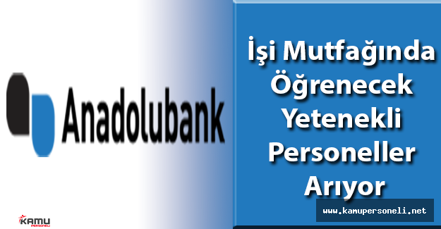 Anadolubank Personel Eleman Alımı İş İlanları 2016