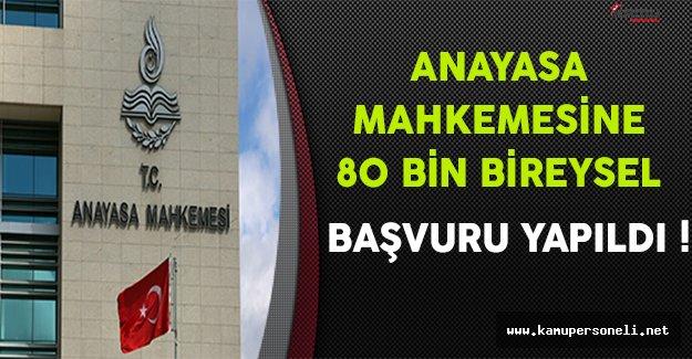 Anayasa Mahkemesine 80 Bin Bireysel Başvuru Yapıldı
