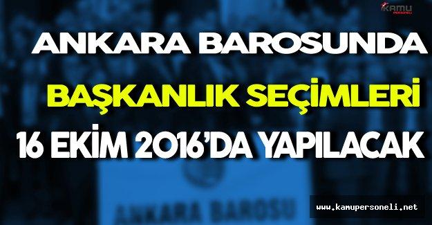 Ankara Barosunda Başkanlık Seçimleri Yarın Yapılacak ( 7 Aday Yarışacak )