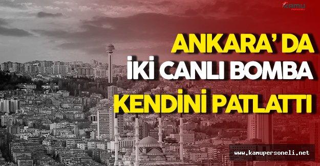 Ankara' da Canlı Bomba Paniği