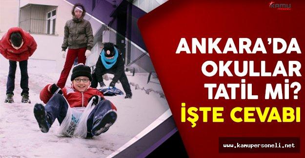 Ankara okullar 9 Ocak Pazartesi tatil mi? Ankara Valisi açıkladı