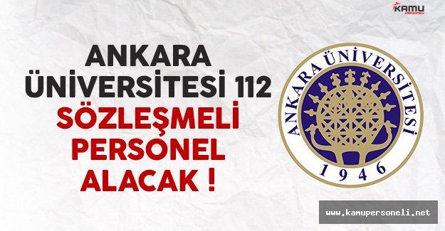 Ankara Üniversitesi 112 Sözleşmeli Personel Alacak