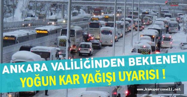 Ankara Valiliğinden Beklenen Yoğun Kar Yağışı Hakkında Önemli Açıklama