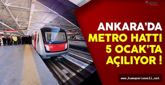 Ankaralılara müjde ! Keçiören metrosu 2 gün sonra açılıyor