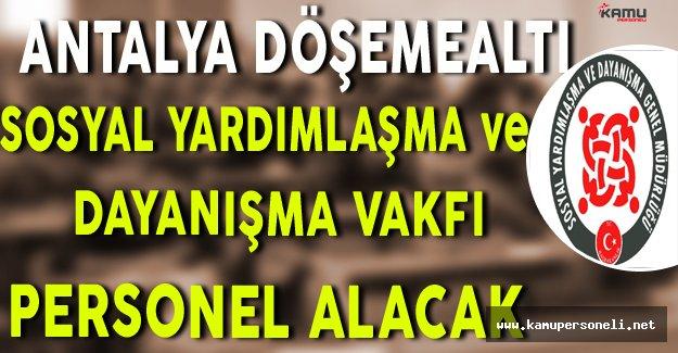Antalya Döşemealtı SYDV Personel Alacak