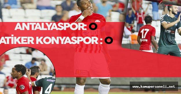 Antalyaspor ile Konyaspor Yenişemedi