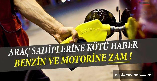 Araç Sahiplerine Kötü Haber: Benzin ve Motorine Zam Geliyor !