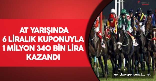 At Yarışında 6 Liralık Kuponuyla 1 Milyon 340 Bin Lira Kazandı