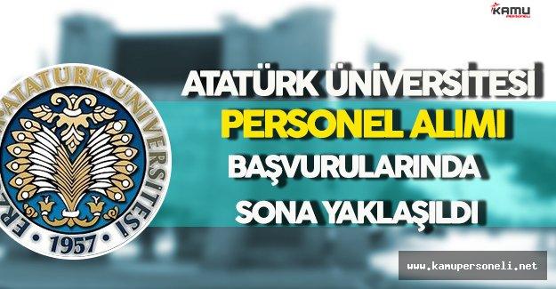 Atatürk Üniversitesi Personel Alım Sürecinde Sona Gelindi