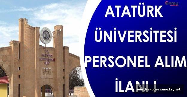 Atatürk Üniversitesi Personel Alımı Yapıyor !