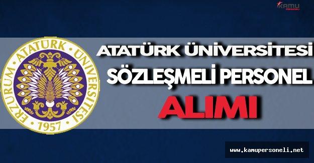 Atatürk Üniversitesi Sözleşmeli Personel Alımı