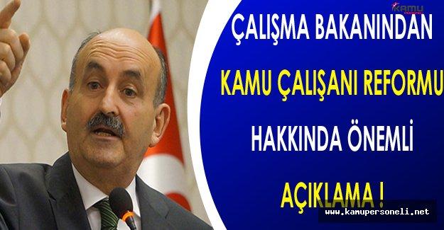 Bakan Müezzinoğlu'ndan Kamu Çalışanı Reformu Hakkında Önemli Açıklama