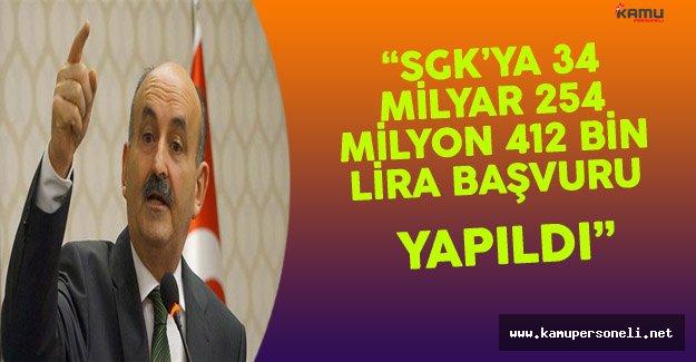 """Bakan Müezzinoğlu:""""SGK'ya 34 Milyar 245 Milyon Lira Tutarında Başvuru Yapıldı"""""""