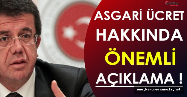 Bakan Zeybekci'den Önemli Asgari Ücret Açıklaması